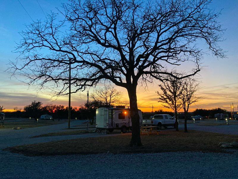 """Our """"Big Rig"""" friendly RV sites in Eastland, TX"""